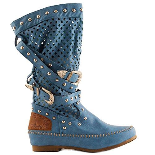 Botines Azul