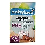 babylove Anfangsmilch Pre von Geburt an (500g Box)