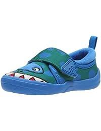 Clarks Shilo Rex First - Zapatos de Cordones de Lona Para Mujer Azul Azul