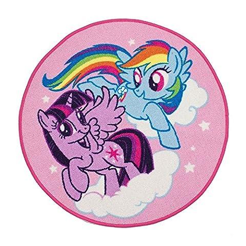 Kinder Teppich Disney Charakter Cartoon Schlafzimmer Spielzimmer Teppiche, My Little Pony, 80 x 80 cm