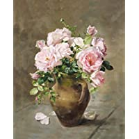 Pink Roses – fine art Limited Edition Flower stampa su tela, by Anne Cotterill