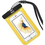 Funda Impermeable YOSH® Bolsa Impermeable Sumergible para Móvil iPhone se 5 5s 6 6s Plus Samsung LG HTC HUAWEI Funda Acuática Resistente al Agua IPX8 Certificado Universal 6 Pulgadas (amarillo)
