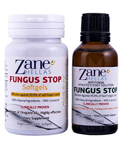 Fungus Stop pied d'athlète ADVANCED Solution KIT - Fungus Stop Solution Pied l'athlète de 30 ml + Fungus Stop Softgels, 60 Softgels