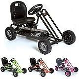 Hauck M901090 Traxxx Lightning - Kart a pedales en color negro [Importado de Alemania]
