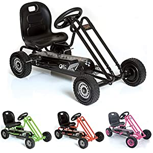 Hauck M901090 Traxxx Lightning - Kart a pedales en color negro Importado de Alemania