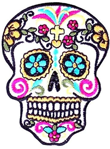 Mexiko Sugar Skull Tag der Toten Tattoo Gangster Aufnäher Aufbügler Patch Sticker