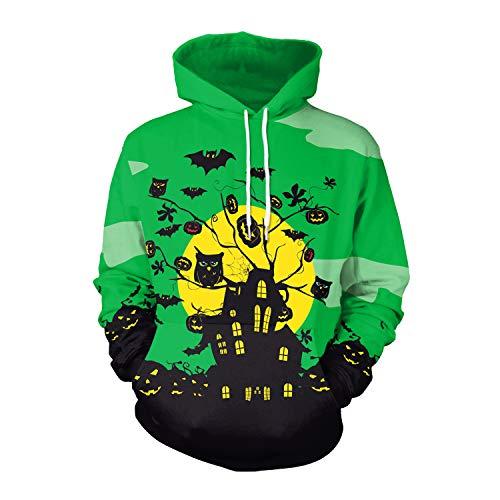 VENIMASEE 1pc Unisex 3D Digital Print Casual Halloween Hoodie Pullover Sweatshirt für Verliebte(M-2XL)