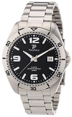 Time Piece Herren-Armbanduhr XL Sporty Analog Quarz TPGS-30163-21M