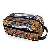 Herramientas Estuche de tren cosmético Almacenamiento portátil Bolsa de artículos de tocador de belleza Bolsa de maquillaje Egipcio Horus Eye Travel