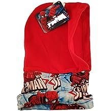 Bufanda Braga Cuello con gorro incorporado Spiderman para niños (Rojo)