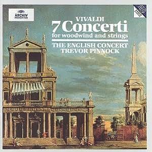 Vivaldi-7 Concertos Pr Cordes&Vents-Pinnock-English Concert-