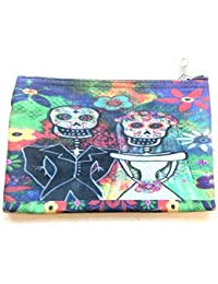 Frida Kahlo Journée des morts Maquillage Artisanat Trousse de toilette Sac Art artisanat m13