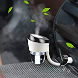topist Chargeur voiture humidificateur, 2106New Arrival Humidificateur d'air de voiture avec chargeur de voiture double USB voiture Diffuseur d'aromathérapie Humidificateur d'air Purificateur Brume vehicular Aroma pour voiture