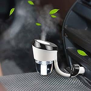 Topist Caricabatteria da Auto Umidificatore, 2106 nuovo arrivo auto umidificatore con Dual USB caricatore per auto auto umidificatore aromaterapia diffusore purificatore Aroma Vehicular nebbia per auto
