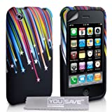 YouSave Accessories Apple iPhone 3G / 3GS Multi-coloured Cover Shooting Star Gel Case