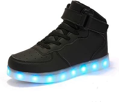 FLARUT Ragazzi Ragazze Bambino LED Scarpe USB Carica Alta Top Lampeggiante Luminosi Sneakers Scarpe Sportivet