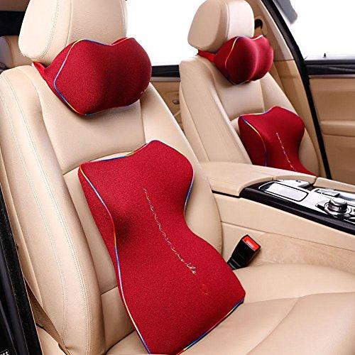 Taillenkissen / Kopfstütze HuanLeBao Arbeiten Sie neuestes ergonomisches Entwurfs-Nackenkissen-Sitzkissen für Auto / Haus / Büro um , Red
