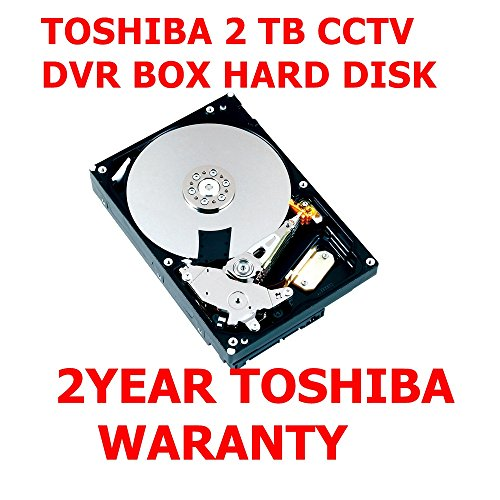 "Toshiba 2TB SATA HARD DISK CCTV DVR HARD DISK (2 YEAR WARRANTY FROM TOSHIBA) SUITABLE FOR CCTV DVR 4/8/16 CHANNEL DVR 3.5"" 5700 rpm 6Gb/s SATA Interface 6Gb/s 64MB BUFFER SIZE Cache ONLY FOR CCTV DVR Hard DISK WITH Toshiba 2 Year Original Warranty"