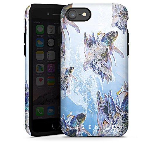 Apple iPhone X Silikon Hülle Case Schutzhülle HIEN LE Goldfisch Fische Tough Case glänzend