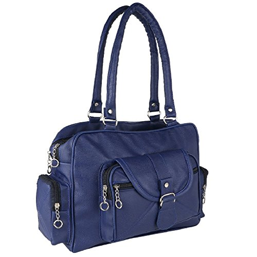 Bizarre Vogue Women's Stylish Handbag (Blue, BV1016)