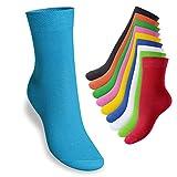 Footstar Kinder Socken (10 Paar), Mittelhohe Strümpfe für Mädchen und Jungen - Everyday!