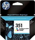 HP 351 CB337EE Cartuccia Originale Standard, da 170 Pagine, Compatibile con le Stampanti a Getto di Inchiostro HP Deskjet D4260, D4300, Photosmart C5280, C4200, Officejet J5780, J5730, Tricromia