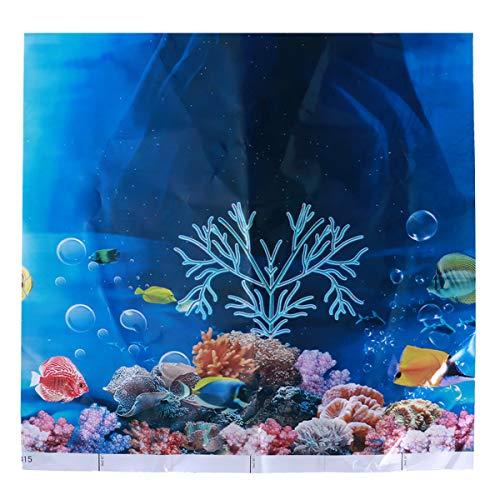 POPETPOP 3D Unterwasserwelt Kulisse Aquarium Koralle Fisch Meer romantische Tapete Hochzeit Reise Fotografie Hintergrund (zufällige Farbe)