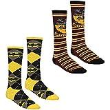 Official Merchandise Batman Meets A Wizard Multicolour Unisex Knee High Socks Batman