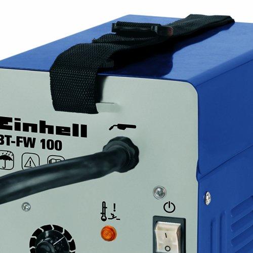 Einhell Fülldraht Schweißgerät BT-FW 100 (31 V, inkl. Masseklemme, Brenner, Ventilatorkühlung, Schweißschirm, Schlackenhammer, Trageriemen) - 5