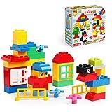 Katara 1755 - Bauteile Bausteine Set, Kompatibel Lego Duplo, Simba Blox, MY, Q-Bricks, bunt mehrfarbig