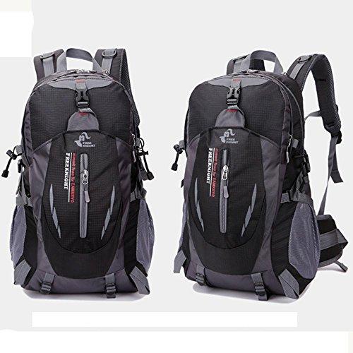 Freizeit Outdoor Klettern Männer und Frauen Farbe Schultern Sport Rucksack Kapazität 35L Black