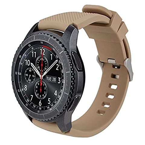 Gear S3 Frontier Strap / Gear S3 Classic Band, MroTech 22mm Sport Strap Soft Silicone Band Replacement Strap Wrist Bracelet Band for Samsung Gear S3 Frontier Classic, Moto 360 2nd Gen 46mm, Pebble Time and Huawei Watch 2 Smartwatch -