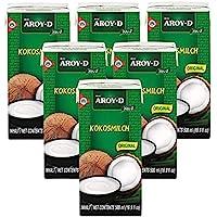 Confezione da 6 Latte di cocco AROY-D con E435 [6x 500ml] Latte di cocco ~ Latte di cocco