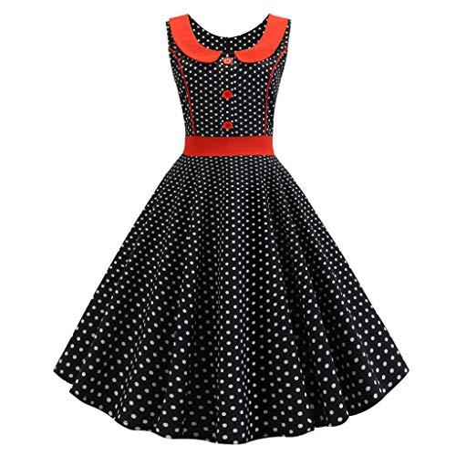 Zegeey Damen Rockabilly Partykleider äRmellose Schulterfrei Plaid Drucken UnregelmäßIgen Kleid Cosplay Ballkleid(W2-Schwarz,EU-42/CN-2XL) - Vintage-wolle Plaid Rock