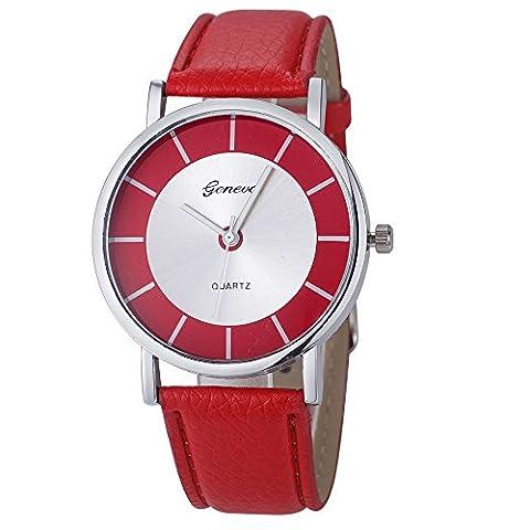 FEITONG Fashion Retro Dial Leather Analog Quartz Wrist Watch