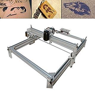 WUPYI2018 500MW DIY Laser Graviermaschine,CNC Laser Drucker mit Schutzbrille,Gravurfläche 40X50CM