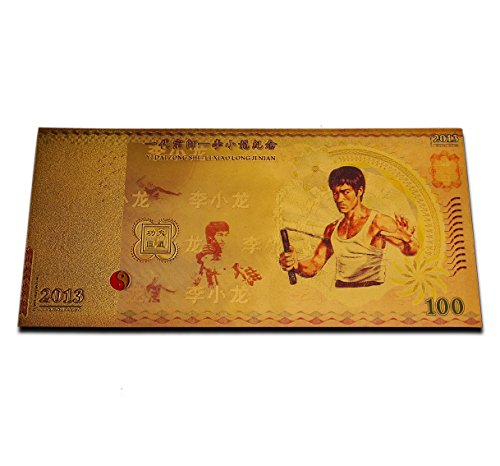 rare-bruce-lee-gold-plated-banknote-china-commemorative-anniversary-martial-arts-legend-tribute-gift