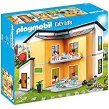 Playmobil Casa Moderna-9266 Salón Negro, Rojo, Color Blanco, Amarillo Sin tañosllaños