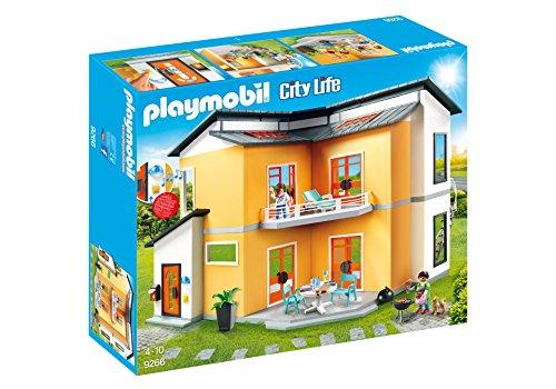 Playmobil Casa Moderna-9266 Salón, Negro, Rojo, Color Blanco, Amarillo (9266)