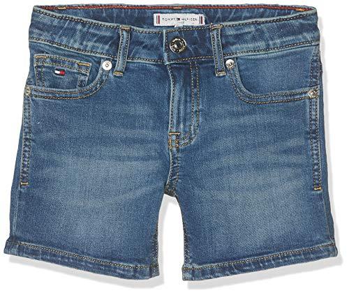 Tommy Hilfiger Mädchen Nora NYMST Shorts, Blau (New York Mid Stretch 911), 104 (Herstellergröße: 4) -