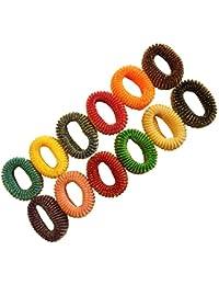 Spincart™ Multicolor Designer Hair Rubber Band Set Of 12, For Women & Girls