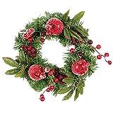 iStary 2018 Weihnachtskranz Türkranz Mit Kugeln Garland Decor Künstliche Kranz Weihnachtsschmuck Dekor Thanksgiving Dekorative Kranz Festlicher Weihnachtskranz Geschenk