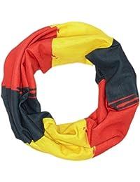 HAD Écharpe multifonction adultes original Allemagne Noir/rouge/jaune, One Size, HA110–0585
