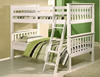 3ft Solid Pine Bunkbed In White Can Split Into Two Single Beds