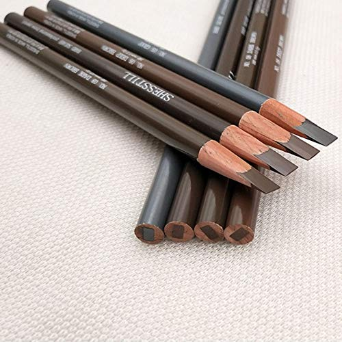 JQ Augenbrauenstift, wasserdichter Augenbrauenstift mit grau-schwarz/beige/Dunkelbraun/Tee-braun, automatisch einziehbarem Augenbrauenstift-Make-up-Kosmetik-Werkzeug -