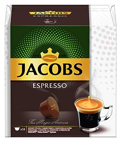 Jacobs Kaffeekapseln Espresso, 42 Nescafé® Dolce Gusto®* kompatible Kapseln, 3 x 14 Getränke
