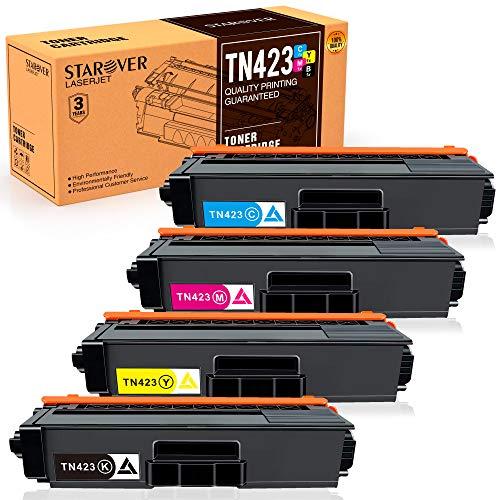 STAROVER 4 x kompatible Tonerkartuschen für Brother TN423 TN-423 TN421 TN-421 Tonerkartuschen für Brother HL-L8260CDW HL-L8360CDW DCP-L8410CDN DCP-L8410CDW MFC-L8690CDW MFC-L8900CDW -