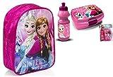 Frozen Disney Die Eiskönigin 3'er Set Rucksack Trinkflasche+Brotdose/Lunchbox