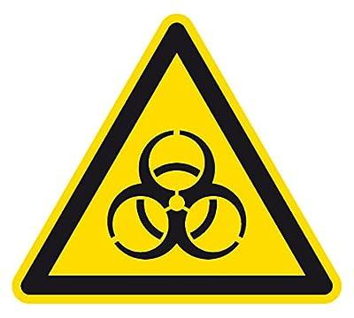Warnzeichen - Warnung vor Biogefährdung - Aluminium