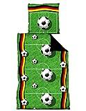 Fußball Bettwäsche 135x200 / 80 x 80 cm
